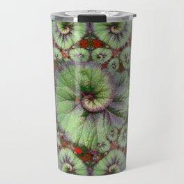 Escargot Begonias Abstract Travel Mug