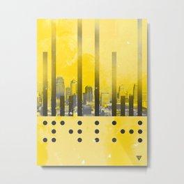 Yellow Abstract Passion Metal Print
