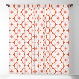 Flower Shapes | Pinkish Blackout Curtain