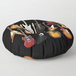 Too Many Guitars! Floor Pillow