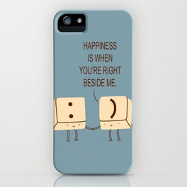Happy Smile Keyboard Buttons iPhone Case