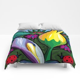 Swamp Flowers (Poster Dimensions) Comforters