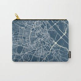 Vienna Blueprint Street Map, Vienna Colour Map Prints Carry-All Pouch