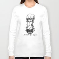 marie antoinette Long Sleeve T-shirts featuring Hipstory Lessons: Marie Antoinette by Natalie Easton