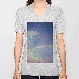 Dreamy Double Rainbow Unisex V-Neck