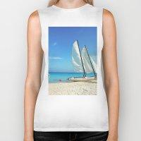 cuba Biker Tanks featuring Cuba Beach by Parrish