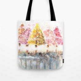 Watercolor Little Forest Illustration Tote Bag