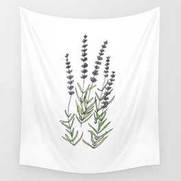 Lavender art print, ink and watercolor Wall Tapestry