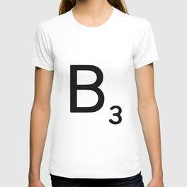 Letter B - Custom Scrabble Letter Wall Art - Scrabble B T-shirt