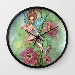 Flower Fairy Wall Clock