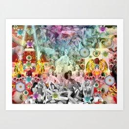 Rainbow Orgy Art Print
