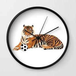 Soccer Tiger Wall Clock