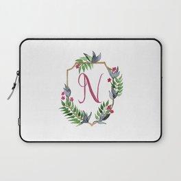 Jungle Gold Monogram Crest N Laptop Sleeve
