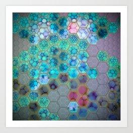 Onion cell hexagons Art Print