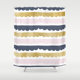 Trifle Pastel Gold Shower Curtain