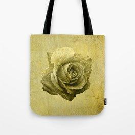 Metallic Gold Rose Flower Luxury Floral Victorian Bohemian Girly Wedding Bride Tote Bag