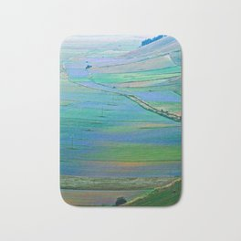 Plain of Castelluccio seen from above Bath Mat