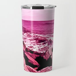 South Jetty Rocks, Sunset Beach, PacificOcean, Oregon Coast Travel Mug