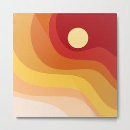 Geometric Shapes // Sunshine Metal Print