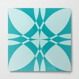 Abstract Circles - Ocean Metal Print