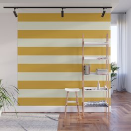 Yellow Stripes Bold Wall Mural