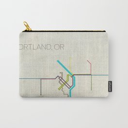Minimal Portland, OR Metro Map Carry-All Pouch