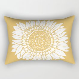 Yellow Sunflower Drawing Rectangular Pillow