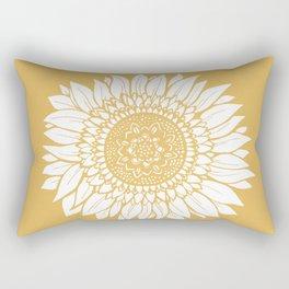 Yellow Sunflower Drawing Rechteckiges Kissen