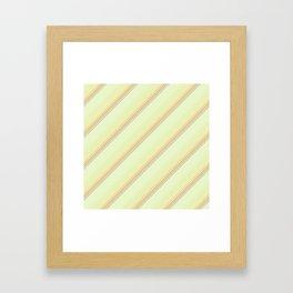 Spring Green Inclined Stripes Framed Art Print