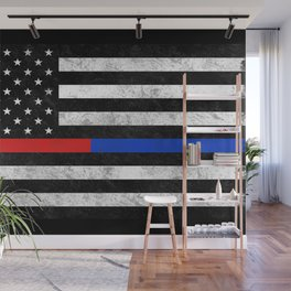 Fire Police Flag Wall Mural