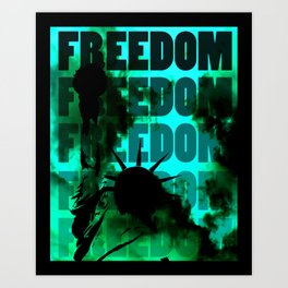 Freedom - Red Art Print
