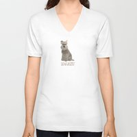 schnauzer V-neck T-shirts featuring Schnauzer by 52 Dogs