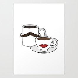 The Caffeinated Couple Art Print