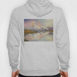 Matterhorn with Rainbow - Swiss Mountain Landscape Hoody