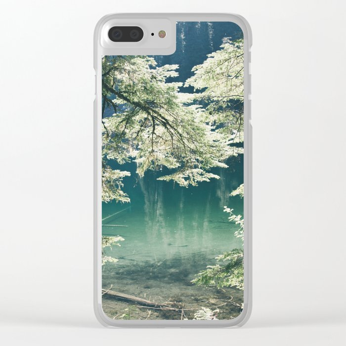 Green Lake Clear iPhone Case