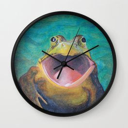 Happy Frog  Wall Clock