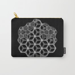 GEOMETRIC NATURE: COGNITIVE HEXAGON b/w Carry-All Pouch