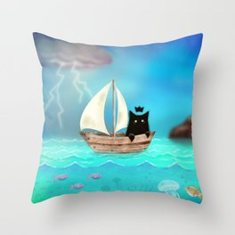 Shadow Tales: September Throw Pillow