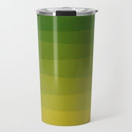 Shades of Grass - Line Gradient Pattern between Lime Green and Bright Yellow Travel Mug