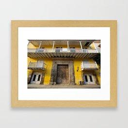 Cartegena Walled City Yellow Home Framed Art Print