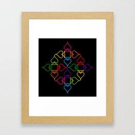 As (Black) Framed Art Print