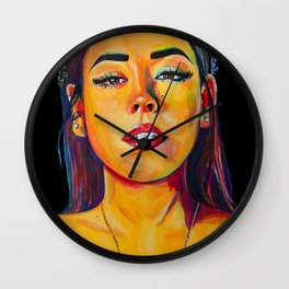 Danna Paola Elite illustration Wall Clock