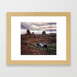 Horse in the Valley Framed Art Print