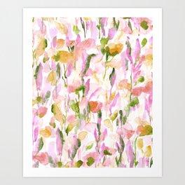 Resolve Pink Green Art Print