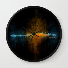 Istanbul City Skyline Hq v4 Wall Clock
