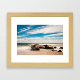 Sea Girt Beach Framed Art Print