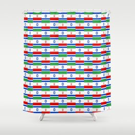Mix of flag : Israel and Iran Shower Curtain