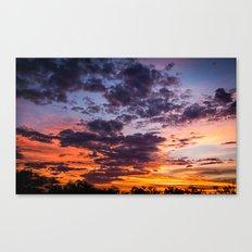 Fiery Sunset Canvas Print