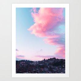 Cotton Skies over Seoul Art Print