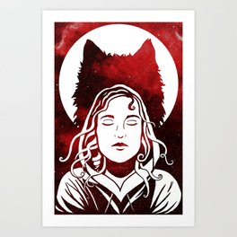 Scarlet and the Wolf Art Print
